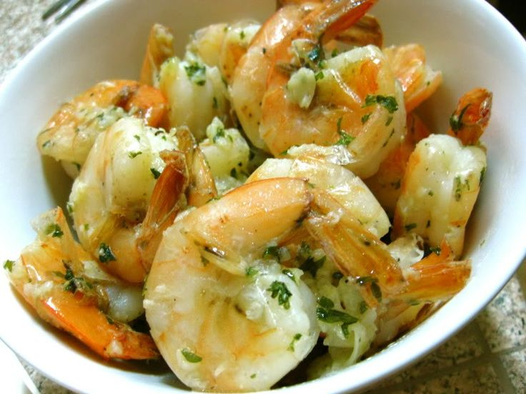 Garlic shrimps in white wine sauce. Soooo good!!! I recommend using a sweet white wine it makes it that much better!!!!!