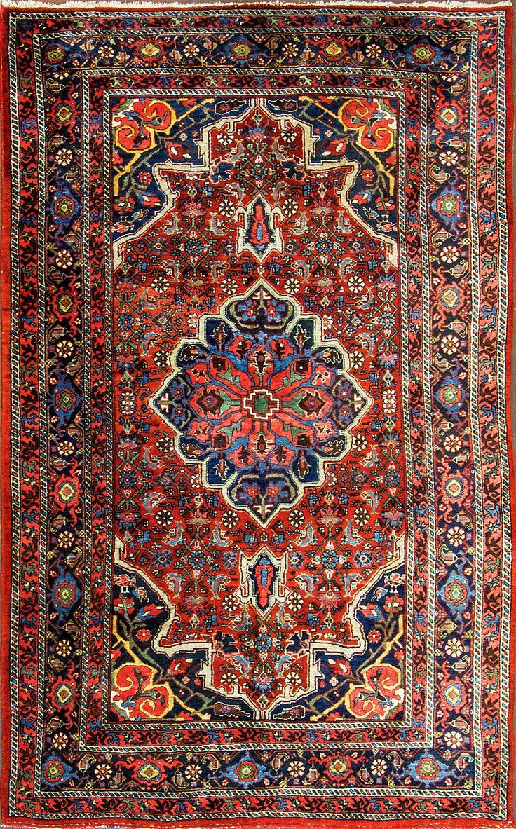 Persian Bidjar rurg, 135cm x 218cm, ca 1920, Eli Peer Oriental Rugs