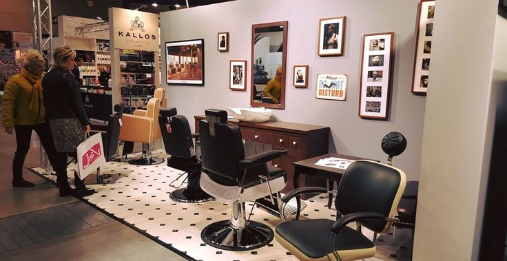 Ayala furniture stand at HAIR FAIR 2015 #Salonideas #Salondesign #Barbershop #Barberchairs