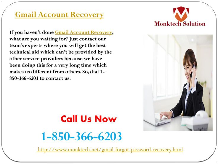 What is Gmail Account Recovery 1-850-366-6203 ? Gmail Account Recovery is the procedure which is used for recovery of Gmail account and this procedure is provided by the professionals which mean this service is free from all kind of Gmail issues. So, if you are one of them who want the effective solution then you need to place a call at 1-850-366-6203.