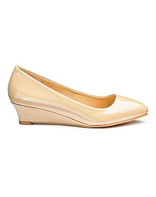 c5aa86d85e4 Heavenly Soles Low Wedge Shoes E Fit