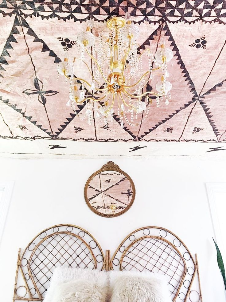 What to do with a vintage Tappa cloth?  Why, hang it on your ceiling, of course!  Check out this episode of the Style Matters podcast where we talk about ALL kinds of design decisions!    #stylematters #stylematterspodcast #whystylematters #howtodecorate #thriftstorescore #vintagestyle #vintagedecor #ceilings