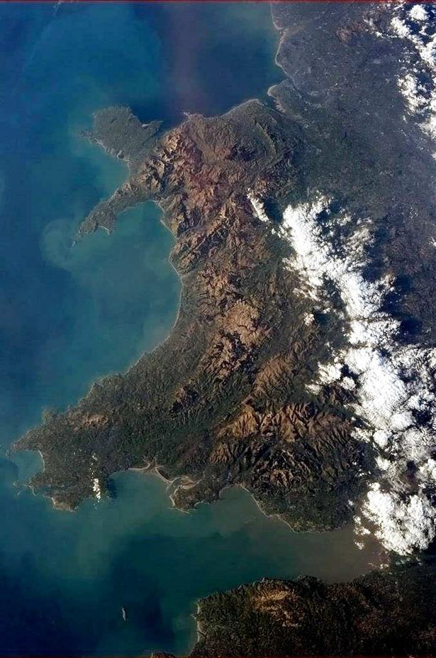At what time can you see the international space station over Wales? - Astronaut Chris Hadfield took this picture of Wales when he was up in the International Space Station
