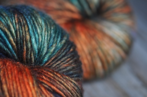 Hedgehog fibres Silk/Merino singles: Beautiful Colors