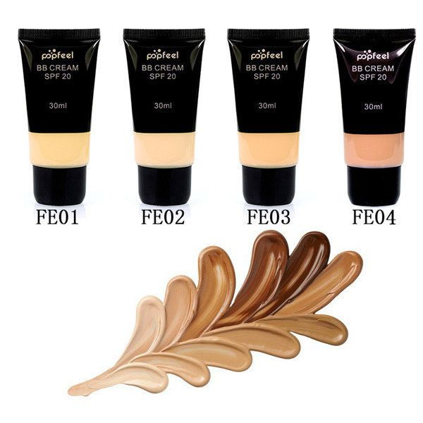 Popfeel BB Cream Foundation Makeup Base Concealer Face Contour Liquid... ($7.47) ❤ liked on Polyvore featuring beauty products, makeup, face makeup and makeup primer