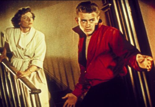 """James Dean and Ann Doran in ''Rebel Without a Cause"""""""
