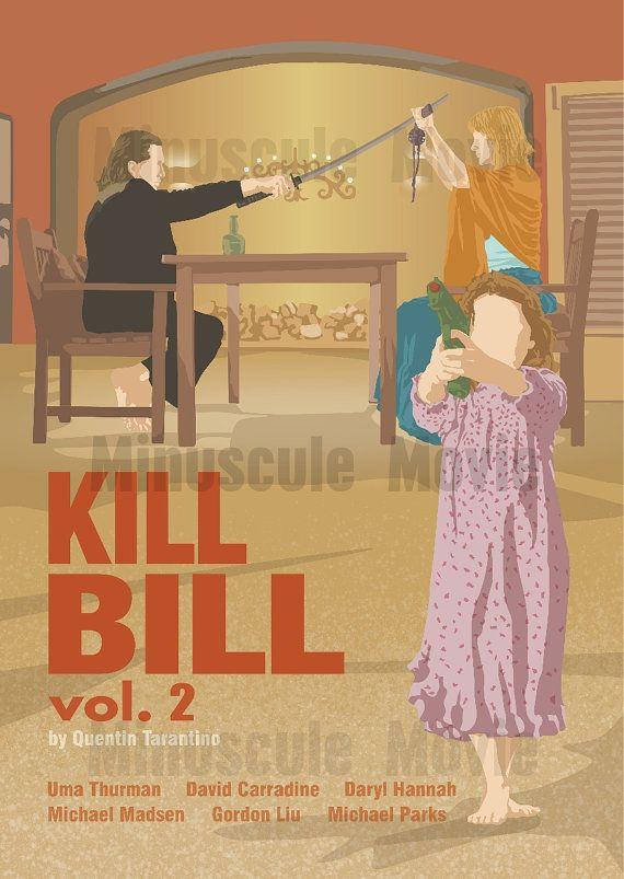 Kill Bill vol. 2 Movie Print Poster Quentin by MinusculeMotion