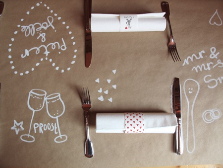 Table decoration craft paper illustration by Studio Sjoesjoe
