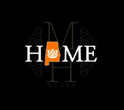 """Auburn University """"HOME"""" Decal / State of Alabama / Two Color / Tigers by TheMonogramHouse on Etsy"""