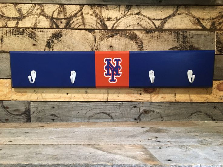 New York Mets 4 Hook Hat / Coat Rack By CSawWoodCrafters On Etsy Https:/