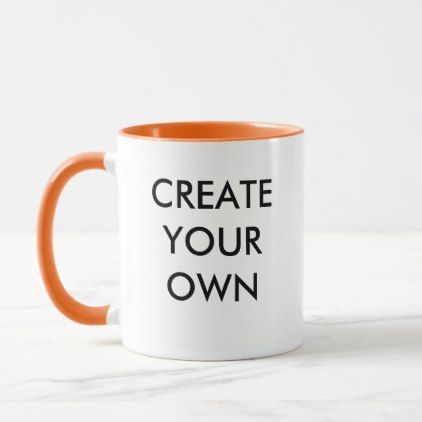 Create Your Own Customizable Combo Mug ORANGE - create your own gifts personalize cyo custom