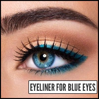 How to Put on Eyeliner to Enhance Blue Eyes. Great tips for making blue eyes pop!