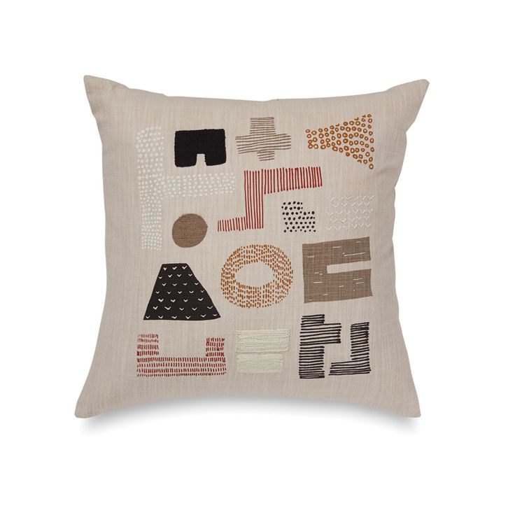 Obi Embroidered Cushion Cover | Citta Design $64.90