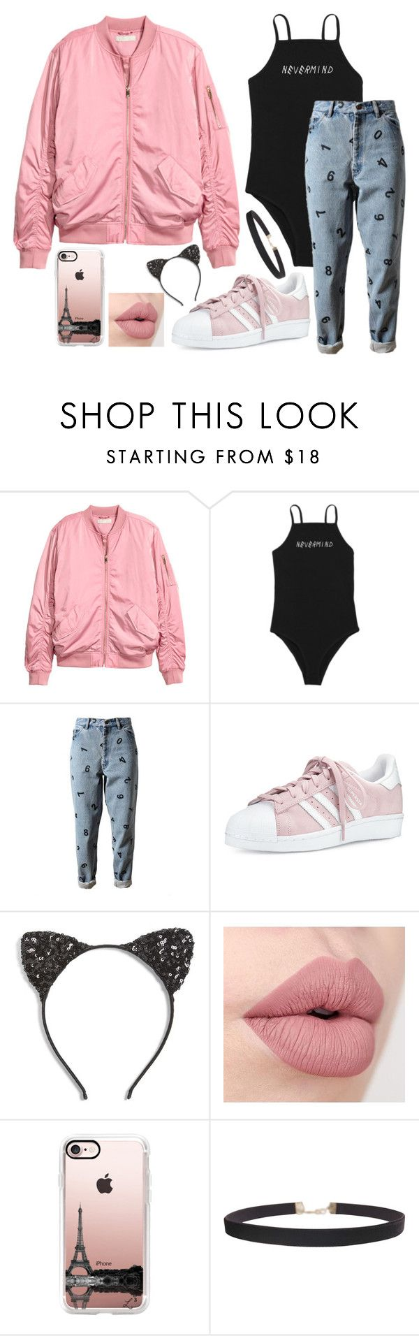 """""""a"""" by gurlfashionstar ❤ liked on Polyvore featuring H&M, Ashish, adidas, Cara, Casetify and Humble Chic"""