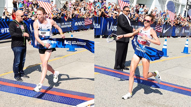LOS ANGELES — The 2016 U.S. Olympic team for the marathon is set. In the men's race, Galen Rupp, Meb Keflezighi and Jared Ward got the cherished podium spots, while Amy Cragg, Desiree Linden and Shalane Flanagan finished 1-2-3 in the women's race.