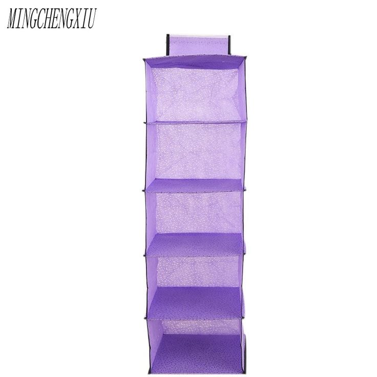 5 Ladder 2017 Underwear Box Rating Hanging Shoes Clothing Bedroom Storage Space Moving Hidden Behind The Door Organizer Bag  #Affiliate