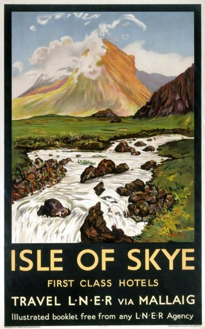 Isle of Skye - Vintage UK Railway Poster