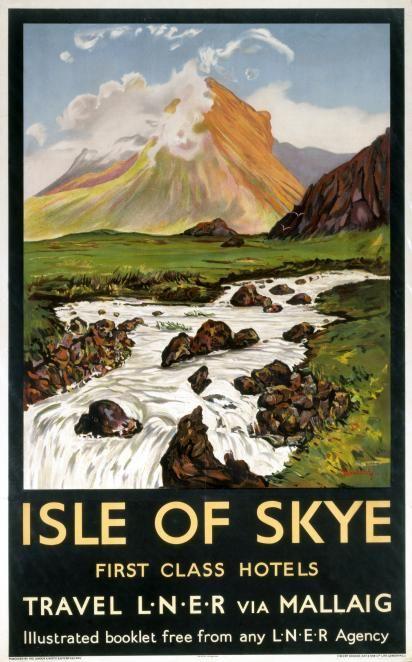 Isle of Skye - Vintage UK Railway Poster