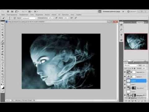 Эффект двойной экспозиции («Double Exposure») в фотошопе - YouTube