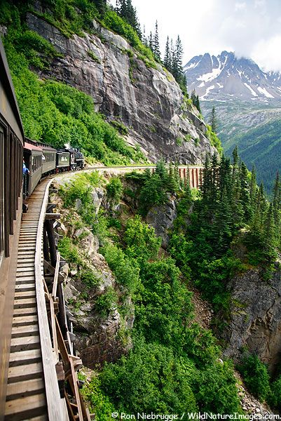 White Pass and Yukon Railroad. Traveled from Skagway to Carcross, Yukon Territory twice and LOVED it.