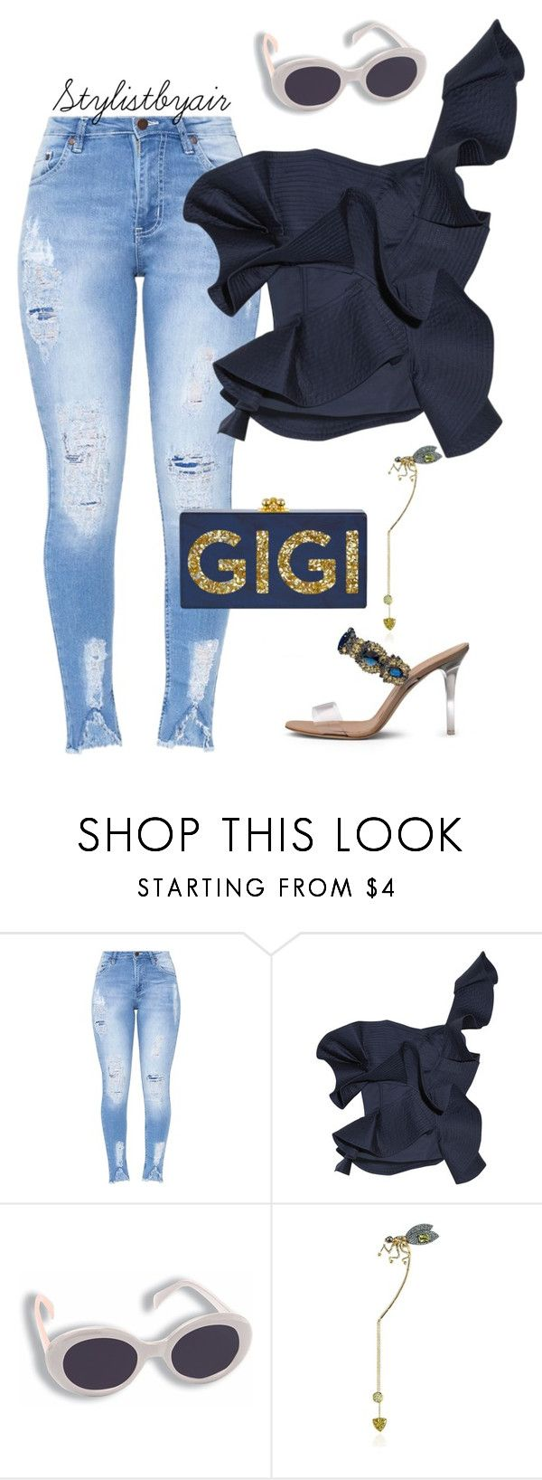 """Untitled #7389"" by stylistbyair ❤ liked on Polyvore featuring Johanna Ortiz, Manolo Blahnik and Daniela Villegas"
