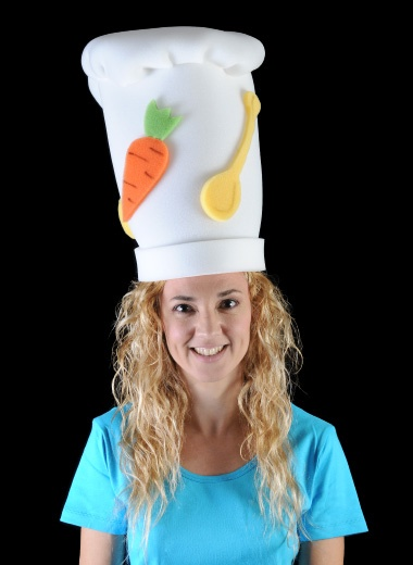 Gorro gomaespuma: Chef