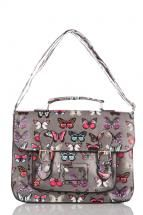 Butterfly Logo Satchel grey/charcoal only £18.99 available to shop now at www.katiedolittle.com