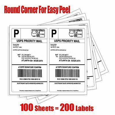 Ad Ebay Url 200 Half Sheet Shipping Labels Round Corner 8 5x5 5