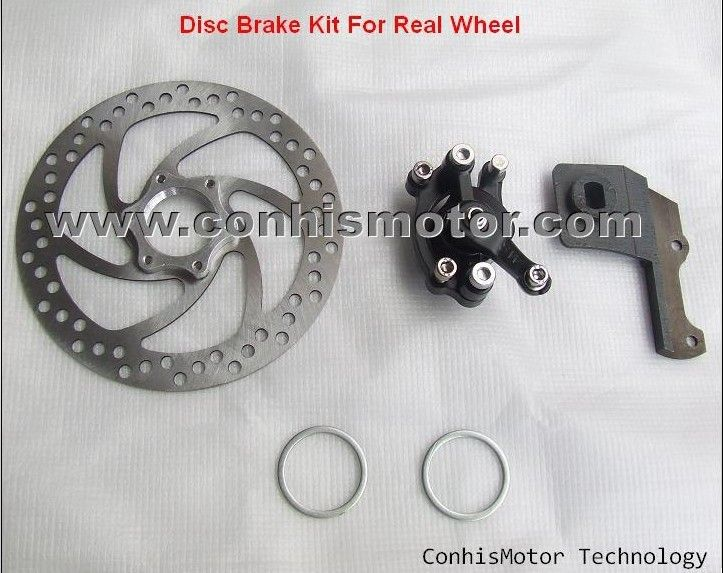 Wholesale cheap, Disc Brake Kit of Rear Wheel for Electric Bicycle E-bike Conversion Kit,you can get more details from: http://www.hallomotor.com/wholesale-other-diy-parts.html