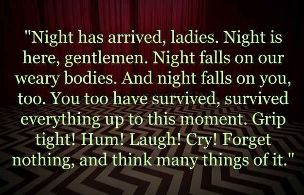 """Who Said It: The Log Lady From """"Twin Peaks"""" Or Cecil From """"Welcome To Night Vale?"""
