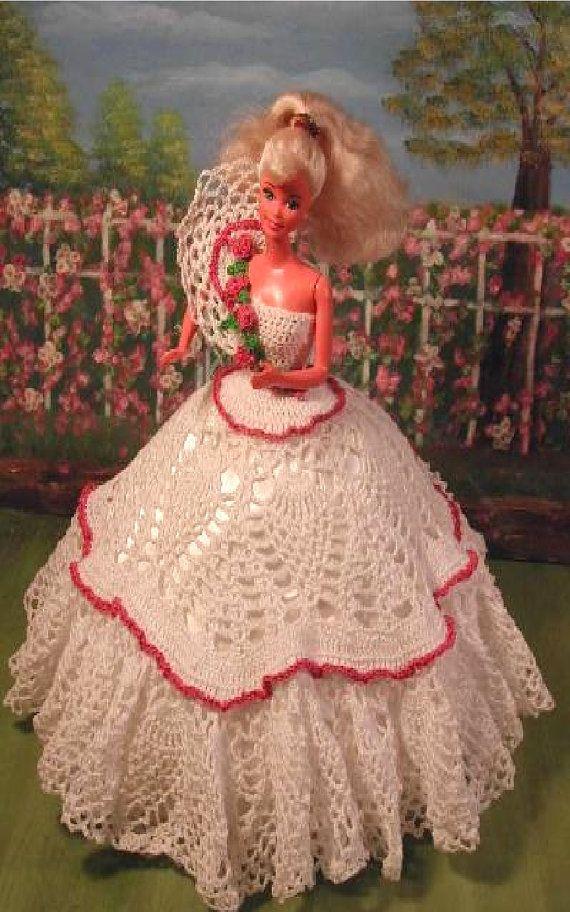 Crochet Fashion Doll Barbie Pattern- #69 PLANTATION BELLE
