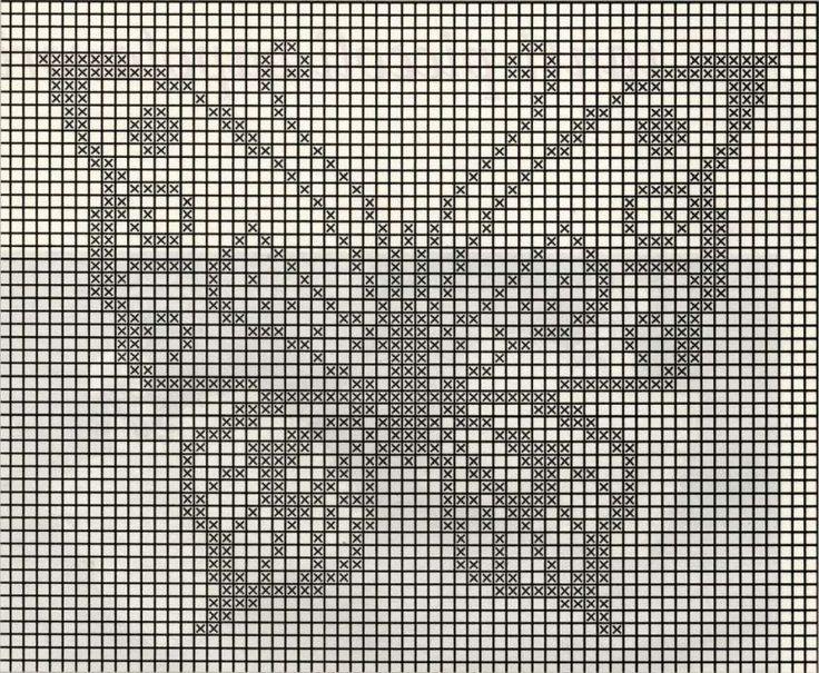 Centrini a uncinetto: schemi e modelli - Schema centrino a forma di farfalla