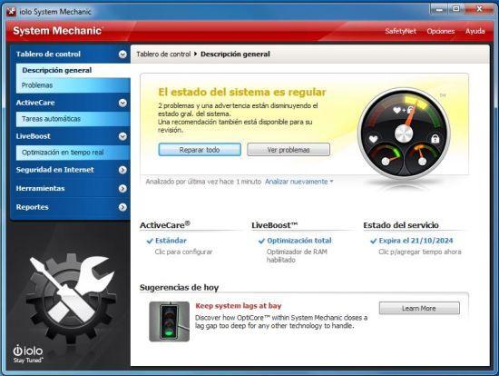 ONE: iolo technologies supera las altas exigencias de los modernos usuarios de PC con System Mechanic 14