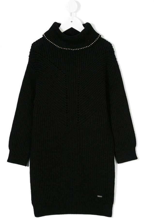 Karl Lagerfeld ribbed knit roll neck jumper