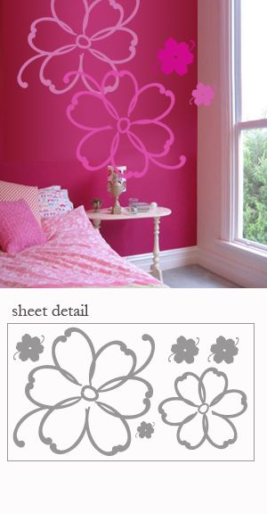 Tropical Flowers Wall decal Stickers
