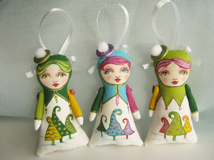 Tree trimmers by Hally Levesque of Creative Doll Works