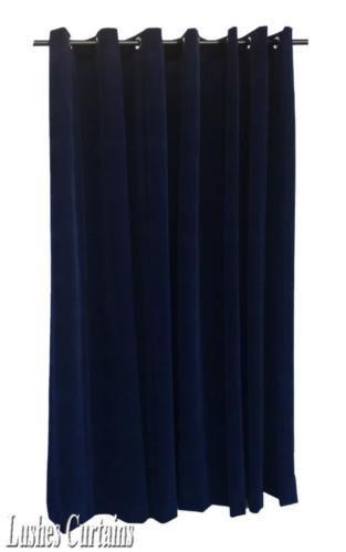 Marineblau 304.8cm H Samt Vorhang Tafell m/Dichtkörper Oberen Ösen Fenster Möbel & Wohnen:Rollos, Gardinen & Vorhänge:Gardinen & Vorhänge