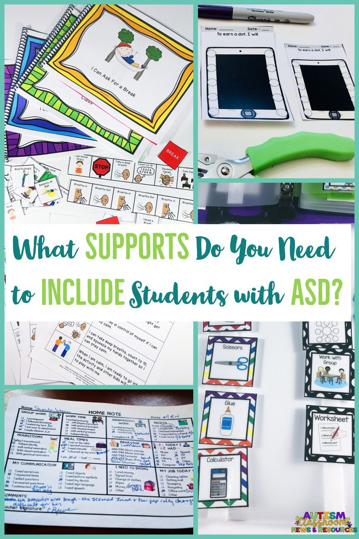 This post gathers a wide variety of supports and strategies to make inclusion for students with autism and other disabilities successful.  Whether you are a general ed. teacher or special education teacher supporting students with special needs, these strategies will work for you. Lot of visual supports and ideas with some freebies as well. #inclusion #autism #inclusionideas