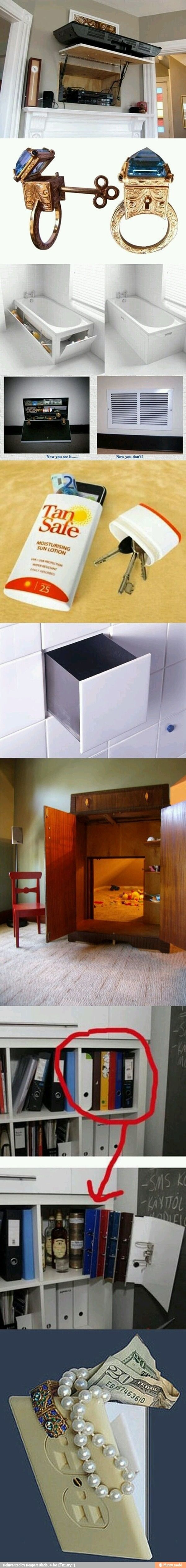 Secret compartments, secret rooms