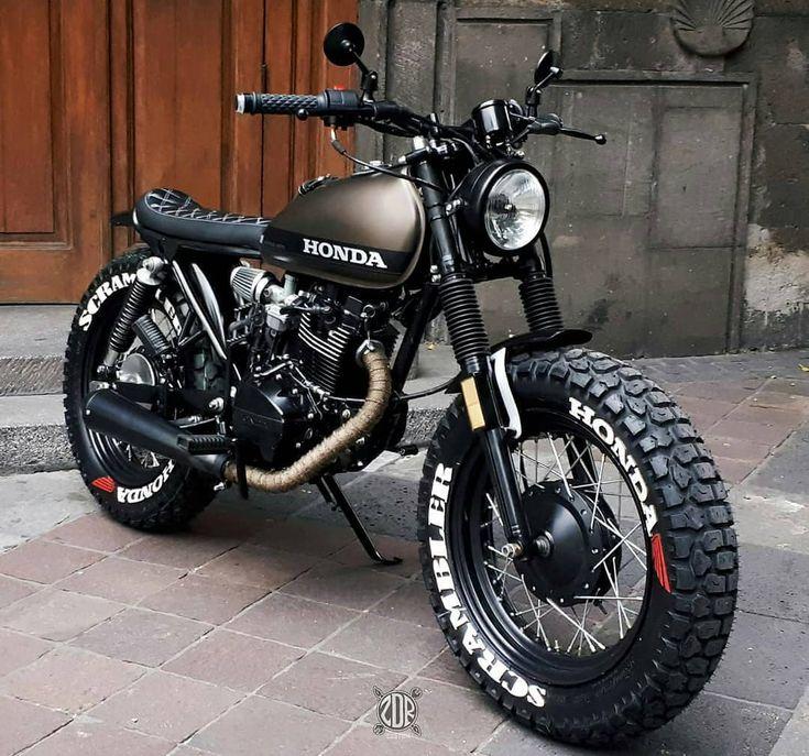 HONDA CGL 125 Fat Tire, custom by zdr custom . Gunakan #kustomgaras & Tag KustomGaras…