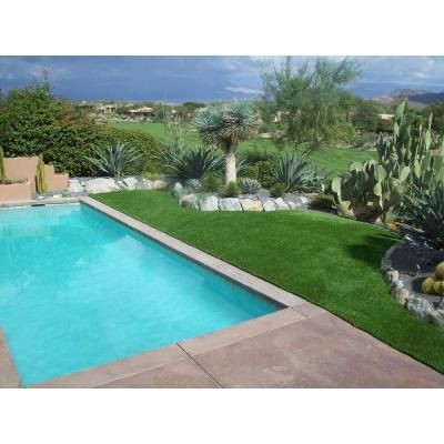 RealGrass Deluxe Artificial Grass Synthetic Lawn Turf, Sold by 15 ft. W x Custom Length( 3.41 / sq. ft. Equivalent)-RGDLN at The Home Depot
