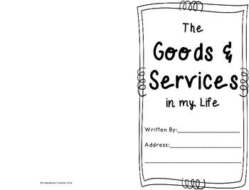 Goods and services worksheets for second grade