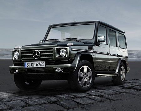 Mercedes-Benz G-Class Wagon.. one of coolest cars ever made! Does it look fimiliar?..Chad Michael Murry drove it in Cinderalla Story. It's starting price for a 2012: $100,000!!