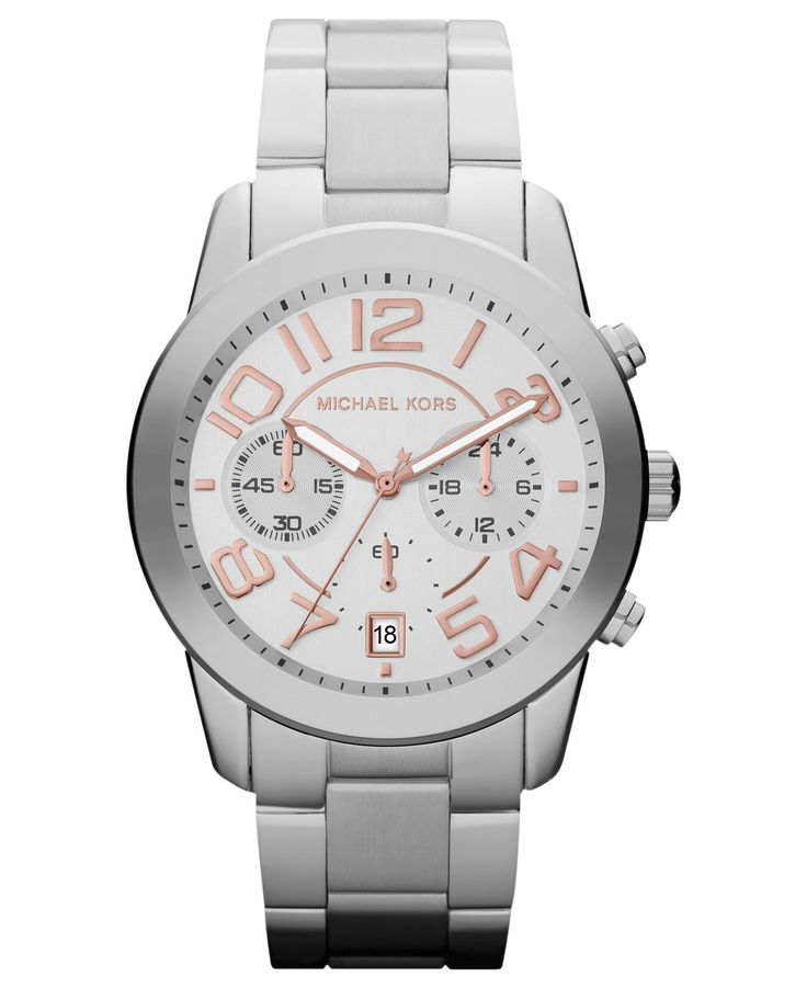 Michael Kors Watch, Women's Chronograph Mercer Stainless Steel Bracelet 42mm MK5725 - All Michael Kors Watches - Jewelry & Watches - Macy's