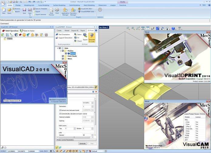 Machining with MecSoft Visual CAD-CAM-3DPrint 2016 v5.0.146 x86 x64 full