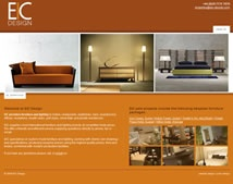 Custom home furniture website deisgn for EIC Design