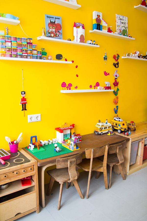 yellow wall | kids room