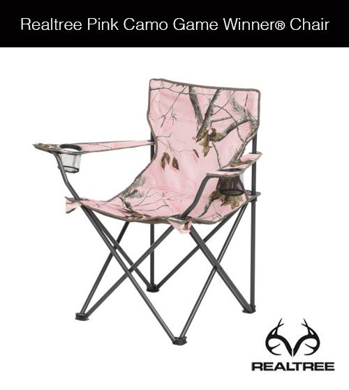 Realtree Pink Camo Game Winner® Chair #realtree #pinkcamo #gamewinner #chair