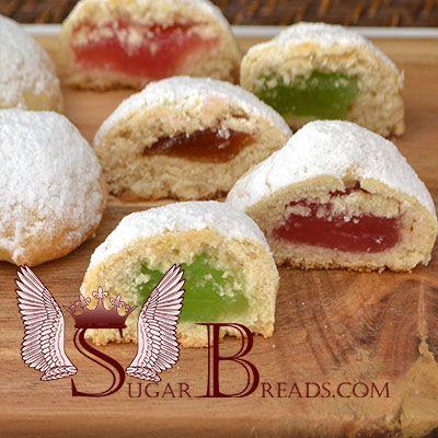 Κουραμπιεδάκια με λουκούμι (νηστίσιμα) | Sugar & Breads in Greece