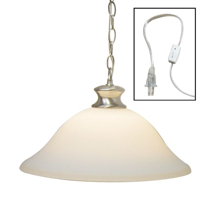 Dolan designs glass shade swag lamp brushed nickel so121 09 lampsusa
